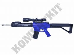 P136 M4 Assault Rifle Style Airsoft BB Gun 2 Tone Black and Blue